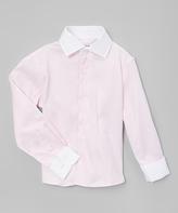 Isaac Mizrahi Light Pink Button-Up - Boys