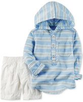 Carter's 2-Pc. Cotton Striped Hoodie & Shorts Set, Baby Boys (0-24 months)