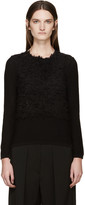 Comme des Garcons Black Textured Sweater