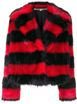 McQ faux fur striped coat