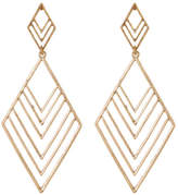 Canvas Large Geo Chevron Drop Earrings
