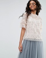 Needle & Thread Constellation Lace Top