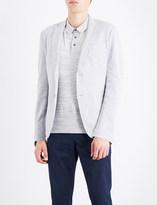 Michael Kors Birdseye-knit cotton-blend blazer