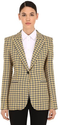Victoria Beckham Checked Virgin Wool Blend Blazer