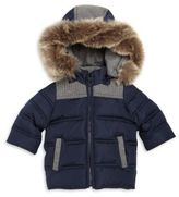 Tartine et Chocolat Baby's Faux-Fur Trim Puffer Jacket