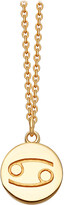 Astley Clarke Zodiac Cancer biography 18ct yellow gold-plated pendant