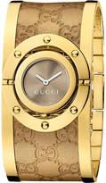 Gucci Ya112434 Twirl Yellow Gold-plated Stainless Steel Cuff Watch