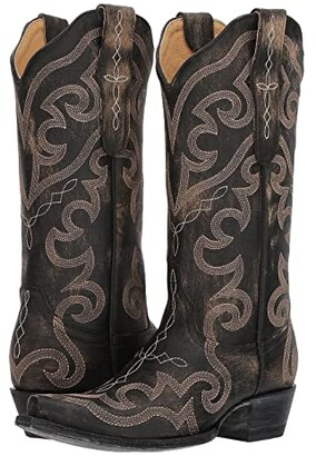 Old Gringo Vittoria (Beige/Black) Cowboy Boots