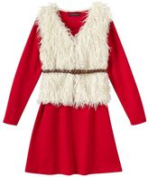 My Michelle Girls 7-16 Knit Dress & Faux-Fur Vest