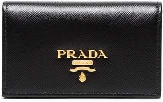 Prada small logo leather wallet