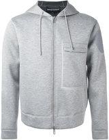 Emporio Armani boxy zip hoodie - men - Modal - L