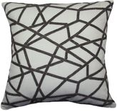 Bed Bath & Beyond Rail Track Beaded Square Throw Pillow in Silver