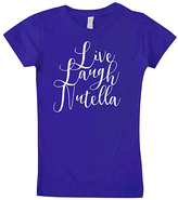 Micro Me Purple 'Live Laugh Nutella' Fitted Tee - Girls