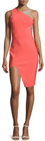 Thierry Mugler Sleeveless Mega Milano Mesh-Inset Dress, Coral
