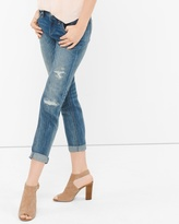 White House Black Market Petite Distressed Girlfriend Jeans