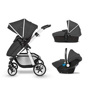 Silver Cross Pioneer Baby Pram and Pushchair, Travel System with Car Seat - Onyx