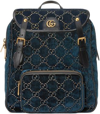 Gucci Small GG velvet backpack