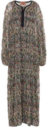 Missoni Lace-up Crochet-knit Kaftan