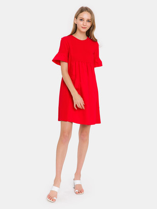 ENGLISH FACTORY Solid Mini Dress