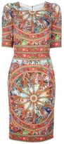 Dolce & Gabbana printed ornament dress