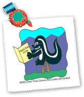 3dRose LLC qs_1430_1 Londons Times Funny Animals Cartoons - Skunk Reads Roberts Rules Of Odor - Quilt Squares