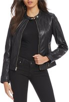 GUESS Scuba Genuine Leather Jacket