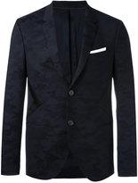Neil Barrett panelled camouflage blazer - men - Polyamide/Polyester/Polyurethane/Virgin Wool - 46