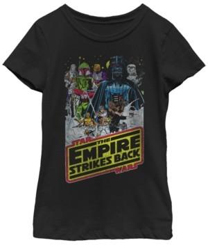 Fifth Sun Star Wars Big Girl's The Empire Strikes Back Poster Short Sleeve T-Shirt