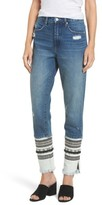 Blank NYC Women's Blanknyc Embellished Straight Leg Jeans