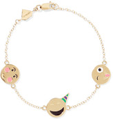 Alison Lou Celebration Enameled 14-karat Gold Bracelet