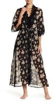 Band of Gypsies Vintage Floral Lace Trim Robe