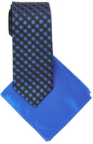 Pierre Cardin Patterned Tie and Solid Handkerchief Set