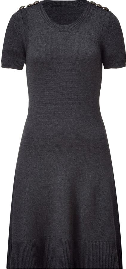 McQ Grey Heather Virgin Wool Knit Dress