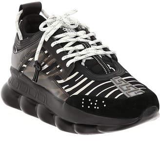 Versace Men's Runway Chain Reaction Sneakers