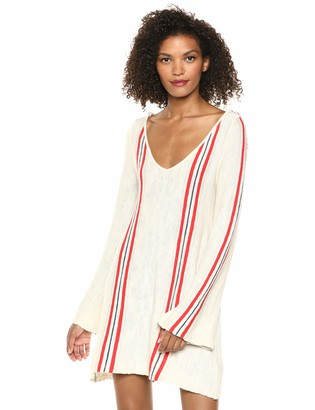 Cupcakes And Cashmere Women's Solaris Striped Scoop Back Dress with Tassels