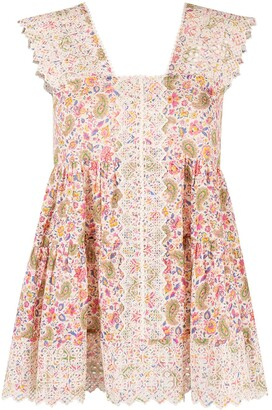 Etro Floral-Print Sleeveless Blouse