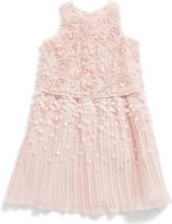 Billieblush Billie Blush Girls Crepe Pleated Sequin Dress