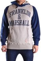 Franklin & Marshall Men's Blue/grey Cotton Sweatshirt.
