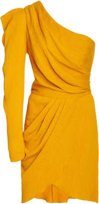 Johanna Ortiz Shining Sun One-Shoulder Crepe Dress