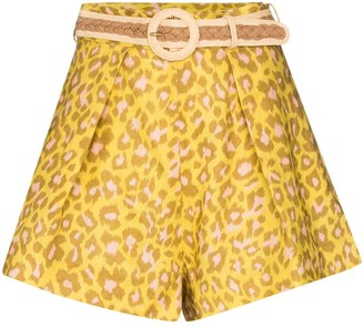 Zimmermann Carnaby leopard-print shorts