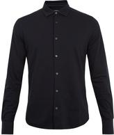 Ermenegildo Zegna Long-sleeved cotton-piqué polo shirt