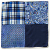 Daniel Cremieux Patchwork Paisley Plaid 4-Square Pocket Square