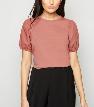 New Look Woven Puff Sleeve T-Shirt