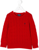 Ralph Lauren logo knitted sweater - kids - Cotton - 2 yrs