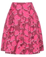 Oscar de la Renta Printed Silk-blend Skirt