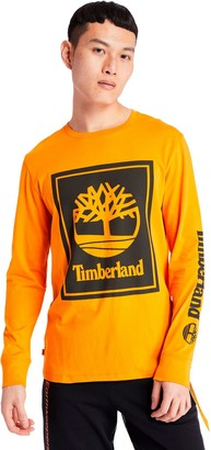 Timberland Stack Logo Long-Sleeve T-Shirt