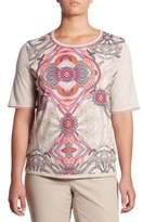 Plus Regular-Fit Paisley Print Wool Tee