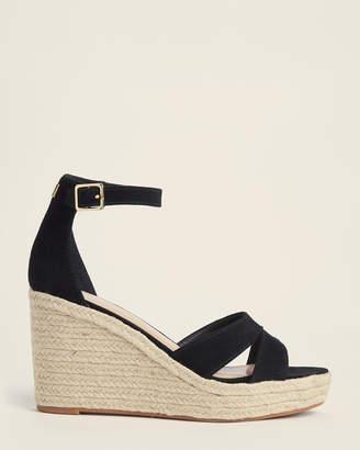 Lauren Ralph Lauren Black Halda Espadrille Wedge Sandals