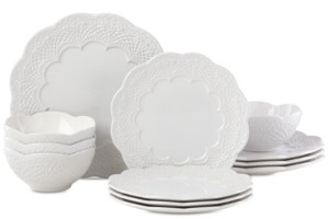 Lenox Chelse Muse Scallop 12-Pc. Dinnerware Set, Service for 4