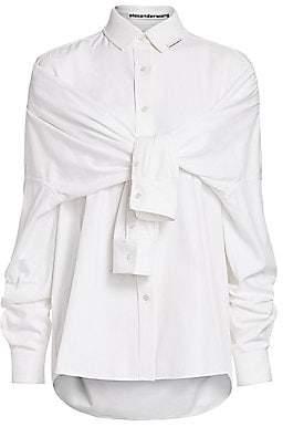 Alexander Wang Women's Tie-Front Silk Shirt